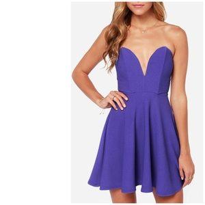 LuLus All Good Things Strapless Lavender Dress